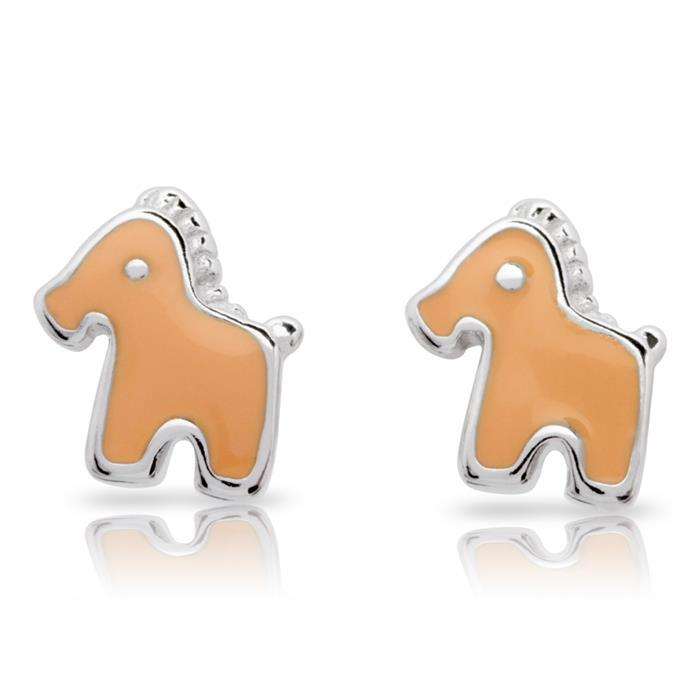 925 Silber Ohrstecker Pferdemotiv für Kinder