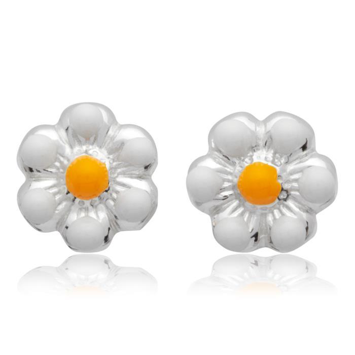 Kinderohrstecker 925 Silber Blumenmotiv weiss