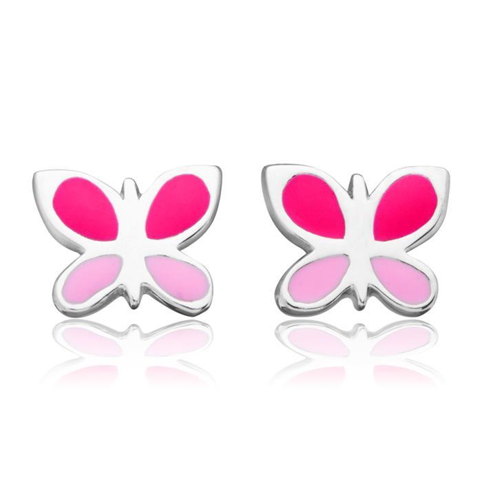 Ohrstecker für Kinder bunter Schmetterling