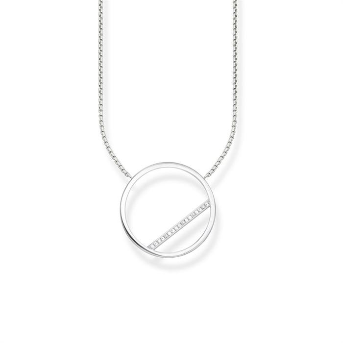 Kreiskette aus 925er Silber Zirkonia