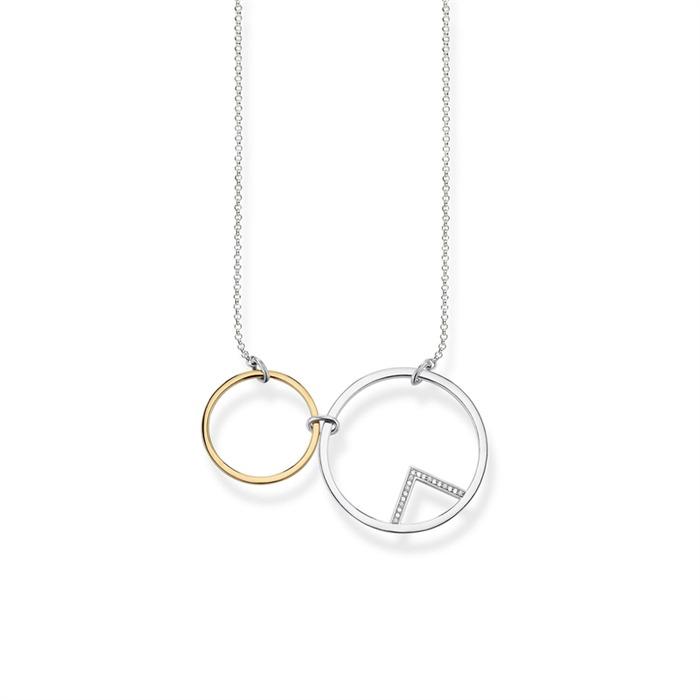 Kette Kreise aus 925er Silber bicolor