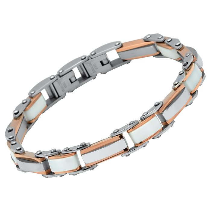 Glänzendes Armband roséfarbener Edelstahl