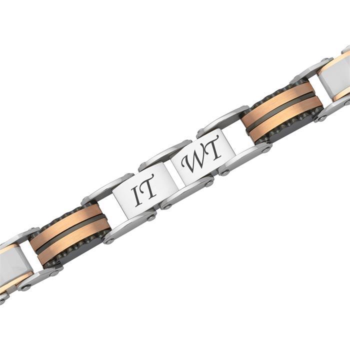 Roséfarbenes Armband robustem Edelstahl