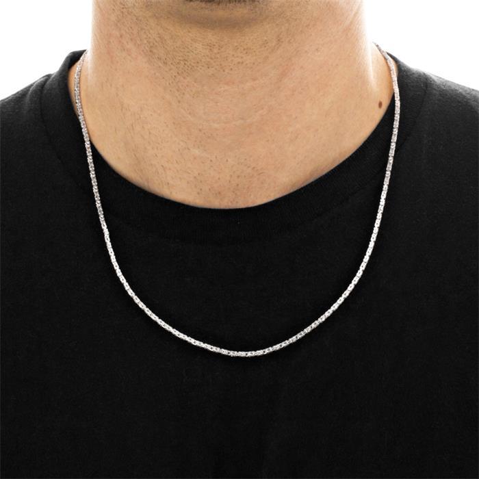 925 Silberkette: Königskette Silber 2mm