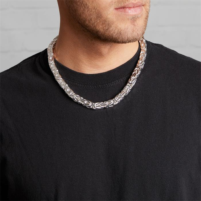 925 Silberkette: Königskette Silber 10mm
