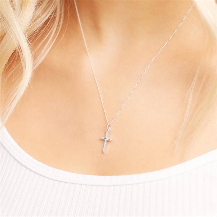 Kinderkette 925 Silberkreuz