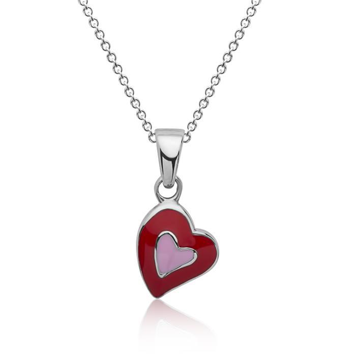 925 Silberkette für Kinder mit Herzanhänger