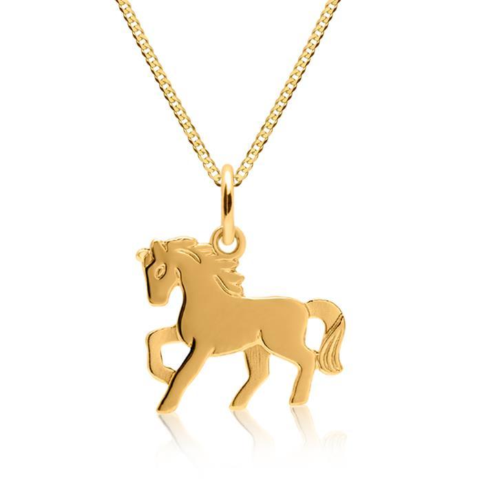Anhänger Kinder 333er Gold Pferdemotiv