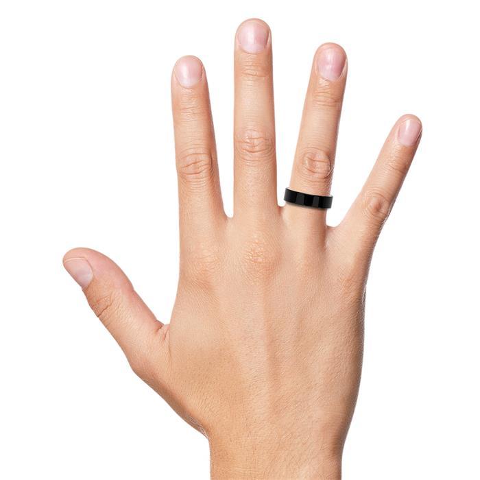 Schlichter Fingerring geschwärzter Keramik