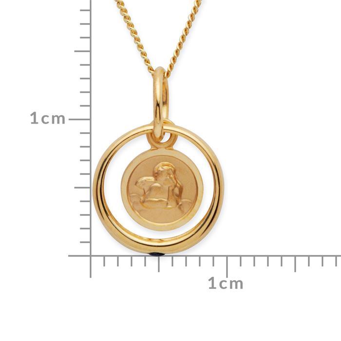 Taufkette 333er Gold mit Saphir Engel