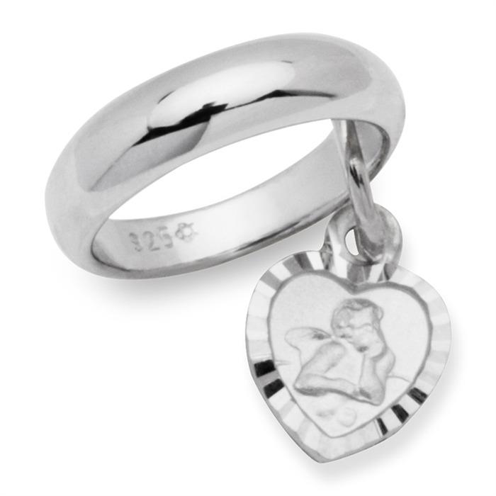 925 Silber Taufkette poliert Engel