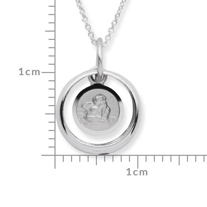 Taufkette 925 Silber Rubin Engel