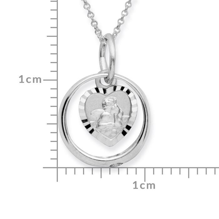 Silber Taufkette 925 Engel Zirkonia
