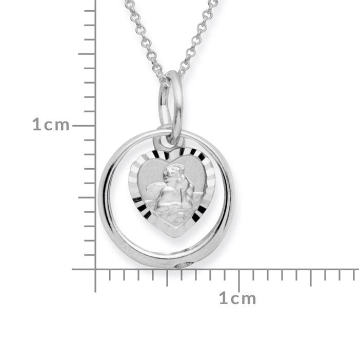 Taufkette 925 Silber Zirkonia Engel