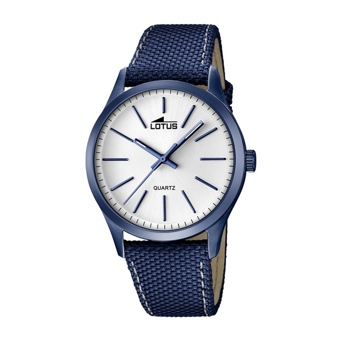 Blaue Herrenuhr Materialmix
