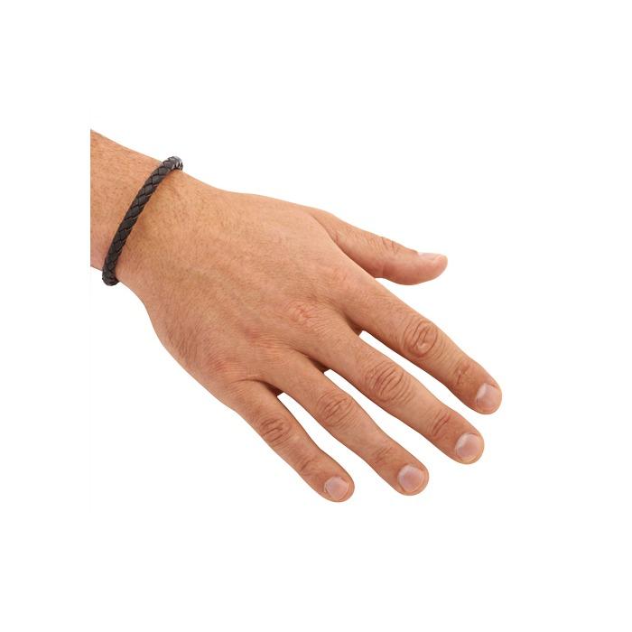 Leder Armband 7 mm Edelstahlverschluss