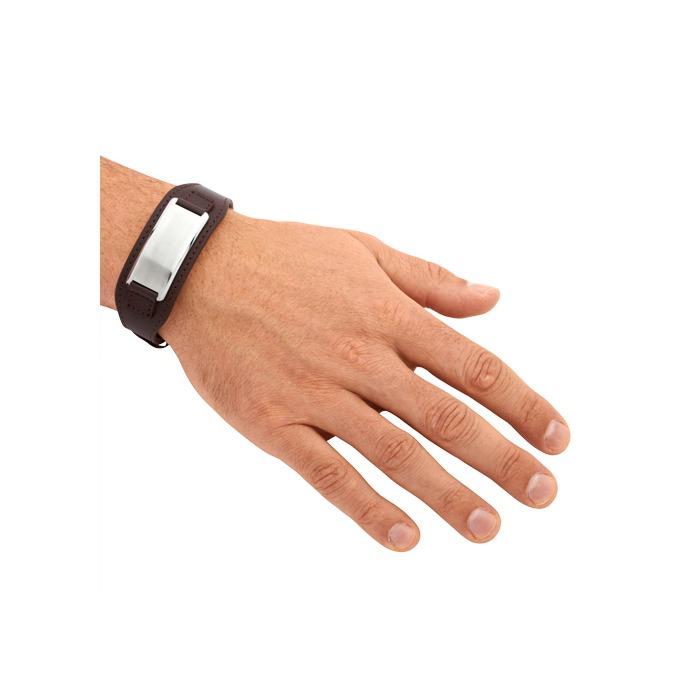 Leder Armband Gravurplatte verstellbar 17-22cm