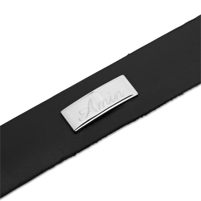 Leder Armband Gravurplatte verstellbar 16,5-21cm