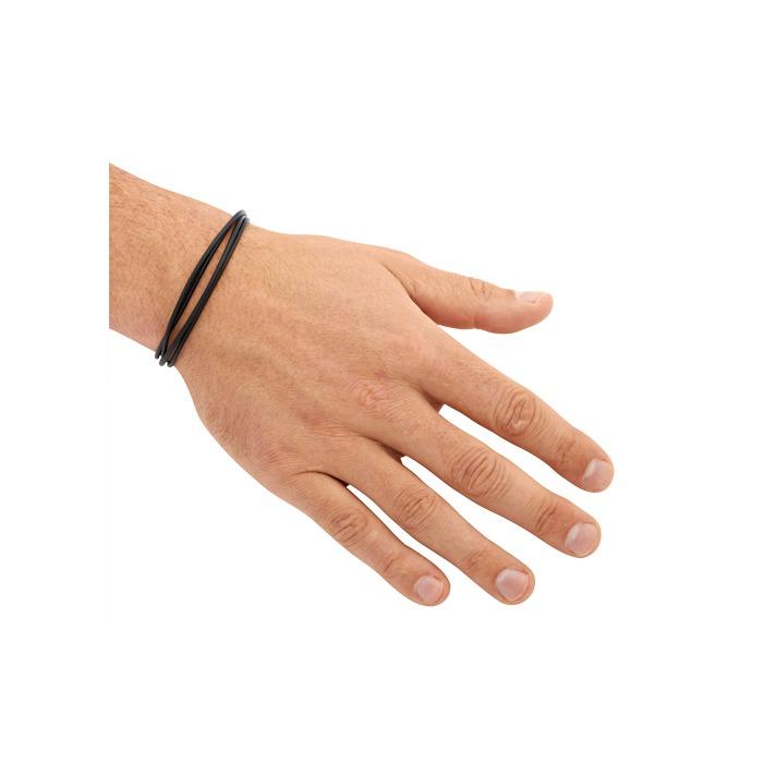 Schwarzes Leder Armband