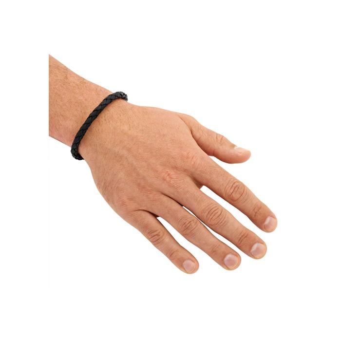 Armband echtes Leder 5,5mm Schwarz