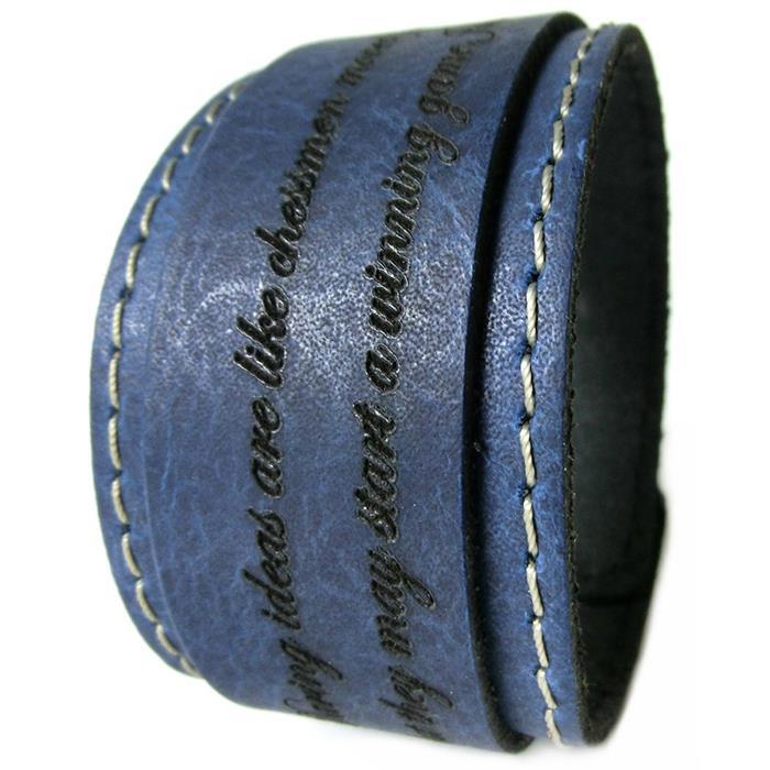 Breites Echtleder Armband mit Lasergravur
