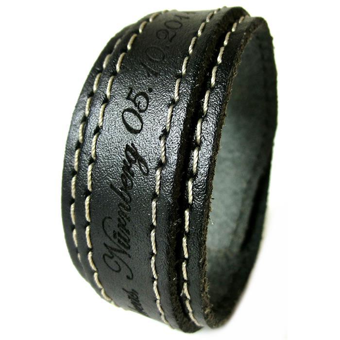Armband aus Leder inklusive Lasergravur