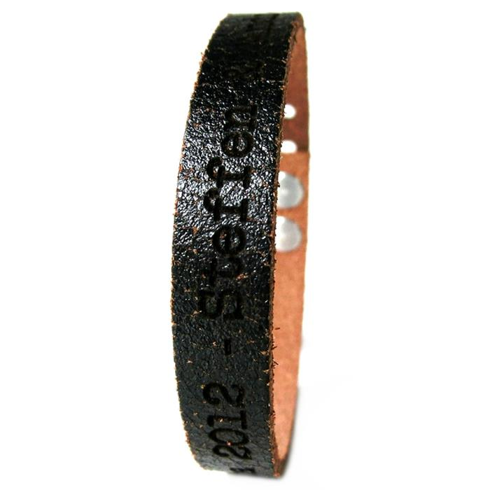 Armband Unisex Echtleder mit Lasergravur