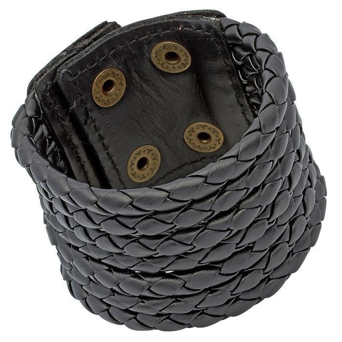 7-Strängiges-Echtleder Armband im coolen Design