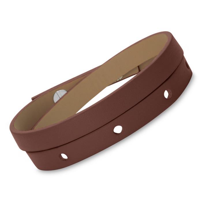 Braunes Echtleder-Armband inklusive Gravur