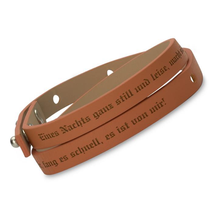 fa94f0efe134 Wickelarmband Echtleder cognac gravierbar. -40%. Dieses Foto zeigt eine  Beispiel Lasergravur
