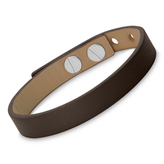 Echtleder-Armband dunkelbraun gravierbar