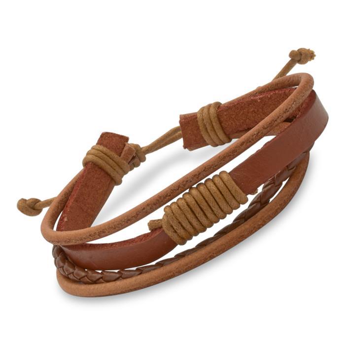 Braunes Leder-Armband Unisex