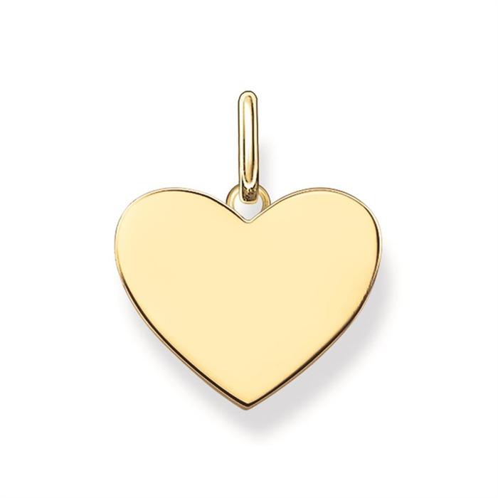 Herz Anhänger vergoldet