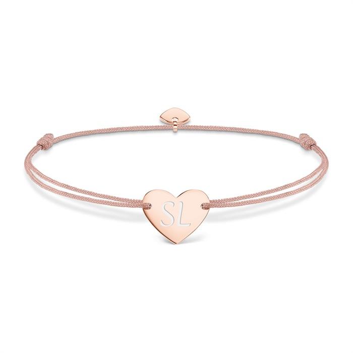 Armband Herz Silber Rosé