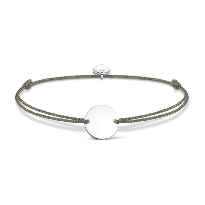 Gravur Armband Nylon Silber
