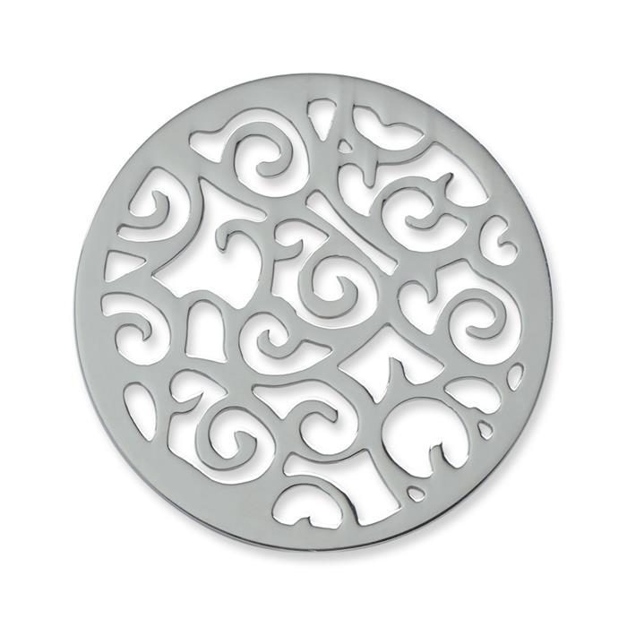 Münze Edelstahl Ornamente silber