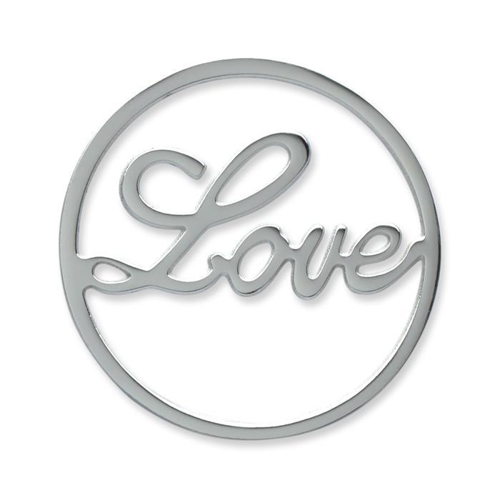 Münze Edelstahl Love silber