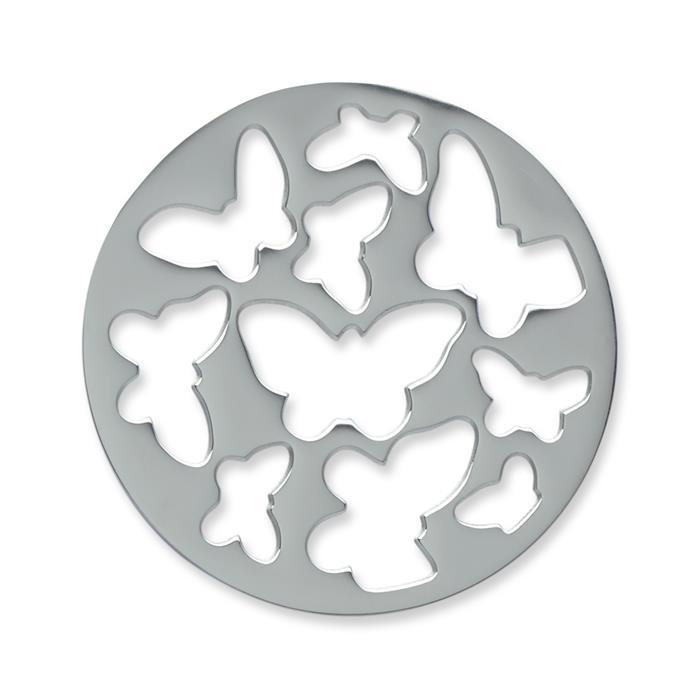 Münze Edelstahl Schmetterlinge silber