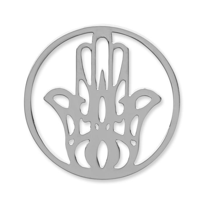 Münze Edelstahl Hand silber