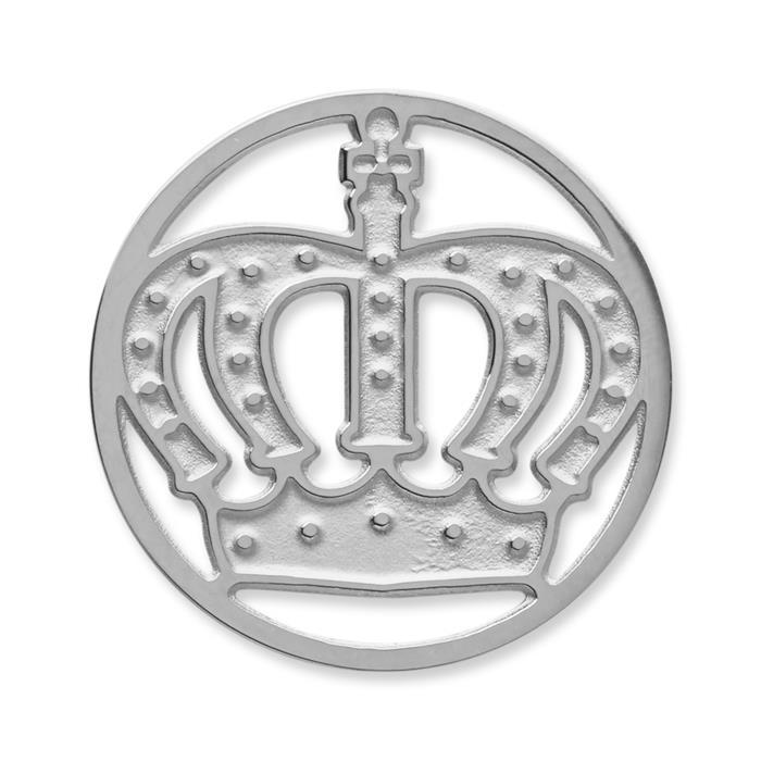 Münze Edelstahl Krone silber