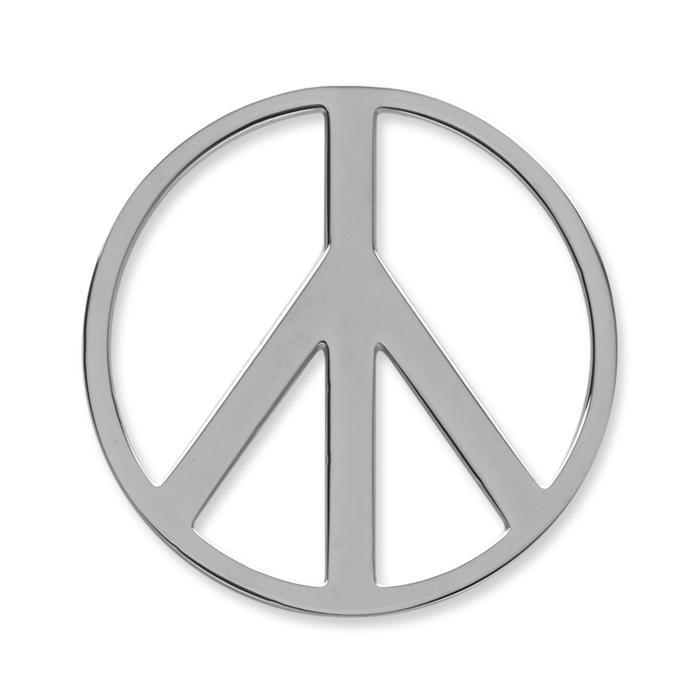 Münze Edelstahl Peace silber