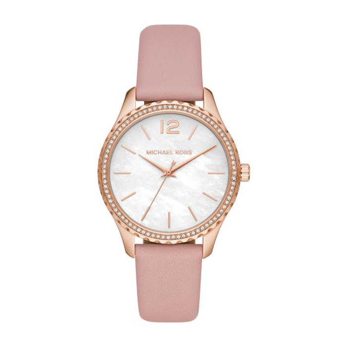 Ladies Watch Layton With Quartz Movement And Leather Strap, Pink