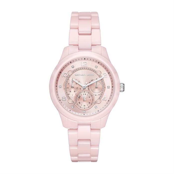 Uhr für Damen aus Keramik rosa