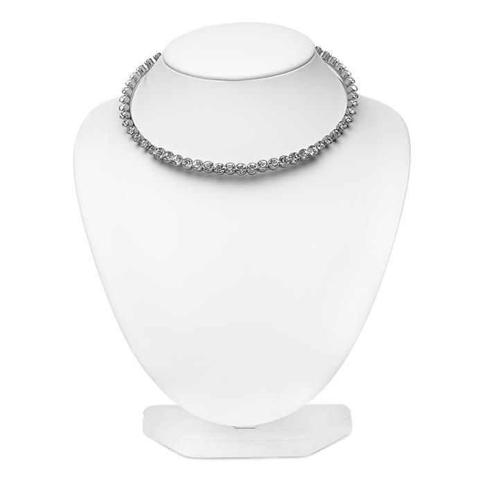 Damen Halskette mit Steinen