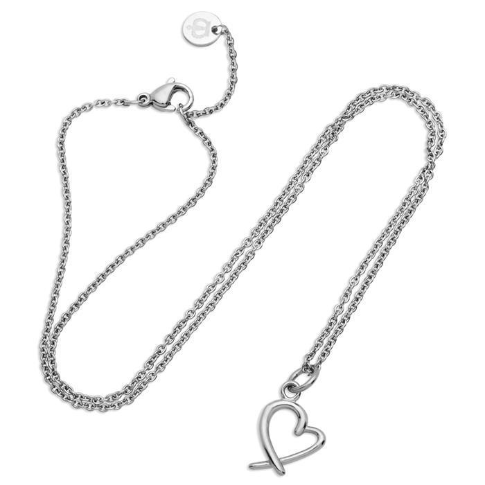 Collier aus Edelstahl mit Herzanhänger