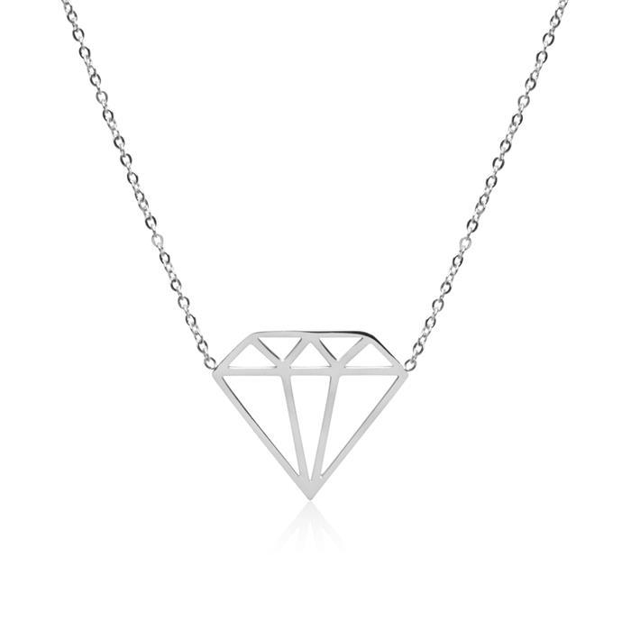 Kette Diamant aus Edelstahl