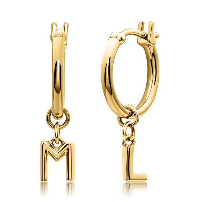 Letter Creoles For Ladies In 14ct. Gold