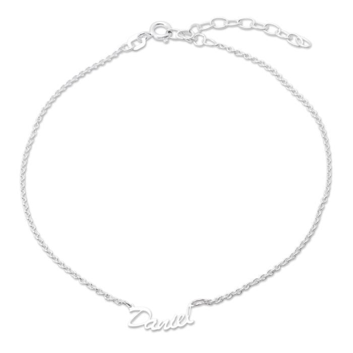 Namensfußkette Silber individuelle Fußkette