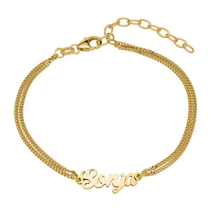 Personalisierbares Armband aus 925er Silber vergoldet