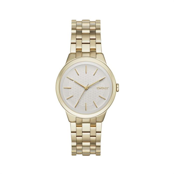 Goldfarbene Armbanduhr für Damen